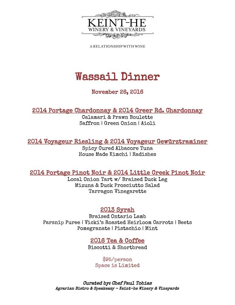 Wassail Dinner